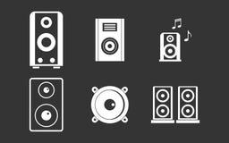 Vecteur gris réglé d'icône de haut-parleur Photos libres de droits