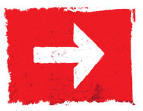 Vecteur grunge de flèche, rouge Photos stock