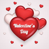Vecteur haut de conception 3d Valentine Day Symbol Transparent Background d'icône du coeur de Greating de carte de moquerie réali Photo stock