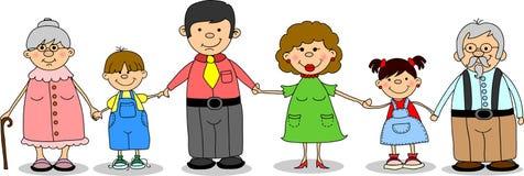 Vecteur heureux de holdingb de famille Image stock