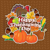 Vecteur heureux de jour de thanksgiving Photo stock