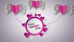 Vecteur heureux de jour de valentines avec les coeurs roses illustration de vecteur