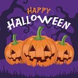 Vecteur heureux de potirons de Halloween Image stock