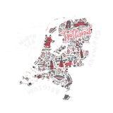 Vecteur Holland Map Photographie stock