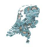 Vecteur Holland Map Images libres de droits