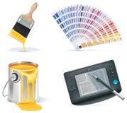 Vecteur Homebuilding et rénovation du positionnement de graphisme. Partie Images stock