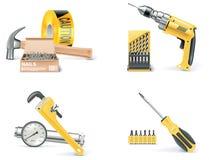 Vecteur Homebuilding et rénovation du positionnement de graphisme. Partie Image stock