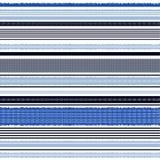 Vecteur horizontal bleu monotone sans couture de modèle rayé illustration libre de droits