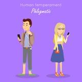 Vecteur humain de concept de tempérament dans la conception plate Image stock