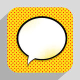Vecteur Illust d'Art Background On Dot Background de bruit de bulle de la parole illustration de vecteur