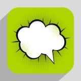 Vecteur Illust d'Art Background On Dot Background de bruit de bulle de la parole illustration stock
