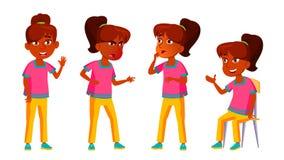 Vecteur indien d'ensemble de fille Enfant de lycée Adolescent, salle de classe pour la carte postale, annonce, conception de couv illustration de vecteur