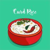 Vecteur indien de riz de lait caillé illustration de vecteur