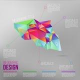 Vecteur infographic avec le chiffre coloré du résumé 3d EPS10 Image libre de droits