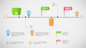 Vecteur infographic de calibre d'affaires de chronologie Image libre de droits
