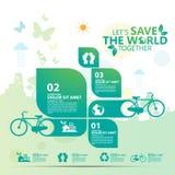 Vecteur infographic de conception de l'avant-projet d'environnement Images libres de droits