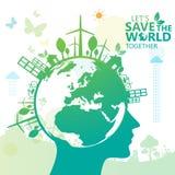 Vecteur infographic de conception de l'avant-projet d'environnement Photo libre de droits