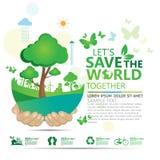 Vecteur infographic de conception de l'avant-projet d'environnement Photos stock