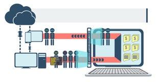 Vecteur infographic de degré de sécurité d'ordinateur et de réseau Photographie stock libre de droits