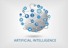Vecteur infographic du concept d'intelligence artificielle