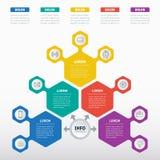 Vecteur infographic du processus de technologie ou d'éducation Business Photos libres de droits