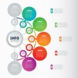 Vecteur infographic du processus de technologie ou d'éducation Business Photographie stock libre de droits