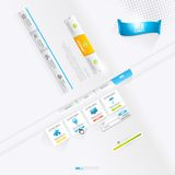 Vecteur Infographics et éléments de web design, boutons et labels illustration de vecteur