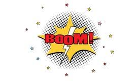 vecteur instantané de éclatement comique eps10 d'effet de bombe d'étoile Explotion avec le boom illustration de vecteur
