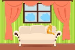 Vecteur intérieur de concept d'appartement dans la conception plate illustration libre de droits