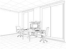 Vecteur intérieur de salles de bureau Images stock