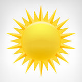 Vecteur jaune de clipart (images graphiques) du soleil d'isolement Images stock