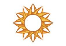 Vecteur jaune du soleil de rond graphique abstrait illustration de vecteur