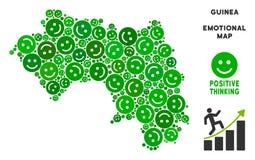 Vecteur Joy African Guinea Map Composition des sourires Images libres de droits