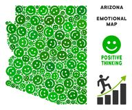 Vecteur Joy Arizona State Map Composition des smiley Illustration Stock