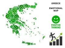Vecteur Joy Greece Map Collage des sourires illustration de vecteur