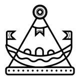 Vecteur juste d'icône de bateau illustration libre de droits