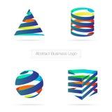Vecteur : Logo coloré abstrait du ruban 3D d'affaires, technologie Co illustration de vecteur