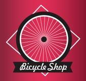 Vecteur Logo Design - concept allant à vélo de boutique de bicyclette - concept faisant du vélo - Image libre de droits