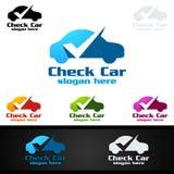 Vecteur Logo Design de service de voiture avec la forme de réparation automatique et le concept de voiture Photos stock