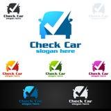 Vecteur Logo Design de service de voiture avec la forme de réparation automatique et le concept de voiture Photo stock
