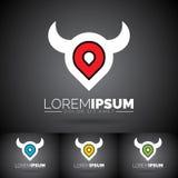 Vecteur Logo Design Template abstrait avec des éléments de conception Nettoyez l'illustration de symbole sur le fond foncé Images stock