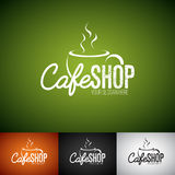 Vecteur Logo Design Template de tasse de Coffe Ensemble d'illustration de label de boutique de Cofe avec la diverse couleur Images stock