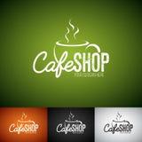 Vecteur Logo Design Template de tasse de Coffe Ensemble d'illustration de label de boutique de Cofe avec la diverse couleur illustration de vecteur