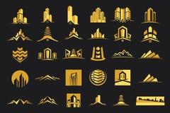 Vecteur Logo Real Estate Construction Set Photos libres de droits