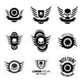 Vecteur Logo Symbols de roue de Moto Image libre de droits