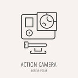 Vecteur Logo Template Action Camera simple Illustration Stock