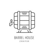 Vecteur Logo Template Barrel House simple Photographie stock