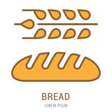 Vecteur Logo Template Bread simple Photo stock