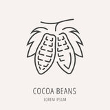 Vecteur Logo Template Cocoa Beans simple Photos libres de droits