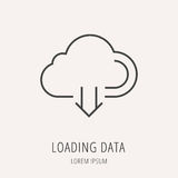 Vecteur Logo Template Loading Data simple Images libres de droits